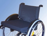 Rollstuhlkissen mit Baumwollbezug, 5 cm