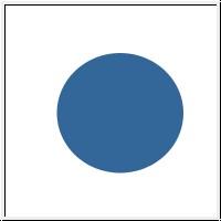 Dycem, rutschfeste Unterlage, rund, 19 cm blau