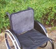 Rollstuhl Sitzauflage mit med. Schaffellbezug