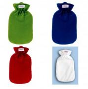 2,0 Liter Wärmflasche mit Fleecebezug, versch. Farben