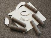 Gebogene Gabel für Rechtshänder, 30 bis 45 Gramm