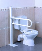 Freistehender Toilettenstützgriff zur Bodenmontage, Griff 55 cm