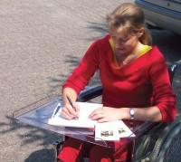 Therapietisch für Rollstuhl