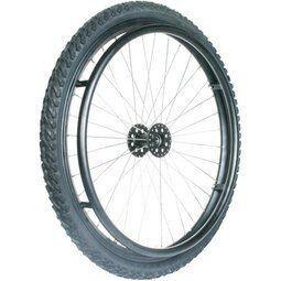 24 Zoll Off Road Rollstuhlrad, schwarz, Nabe 12 mm