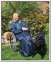 Rollstuhl Regencape mit Armen für Erwachsene, versch. Farben