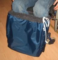 Rollstuhl Fuß-Schlupfsack, schwarz