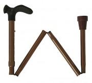 Faltstock für Linkshänder, anatomisch, bronze