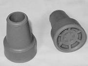 Krückengummi grau 18 mm Stern