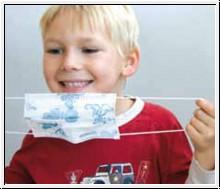Mundschutz für Kinder mit Gummischlaufe