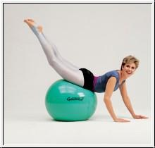 Gymnastikball, Pezziball, Ø 65 cm, grün