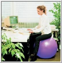 Sitzball, Ø 75 cm, hellblau