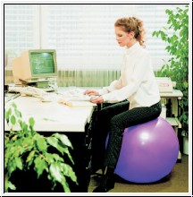 Sitzball, Ø 65 cm, flieder