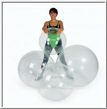Gymnastikball, Ø 55cm, Gymnic Opti, transparent