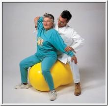 Doppelsitzball Physio Roll, Ø 55 cm, gelb