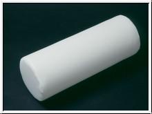 Nackenrolle mit Kunstlederbezug weiß 40 x 15 cm