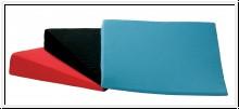 Keilkissen, soft, 38 x 38 x 7/1 cm, blau