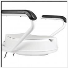 Toilettensitzerhöhung mit montierbaren Armlehnen und Deckel, 10