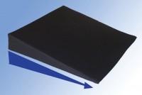 Keilkissen mit Nylonbezug, 38 x 38 x 7/1 cm, schwarz