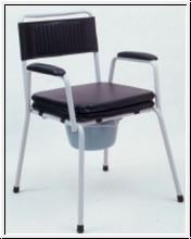 Toilettenstuhl, TS 100, gepolsterter Sitzfläche und Abdeckplatte