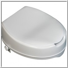 Toilettensitzerhöhung mit Deckel, 5 cm hoch