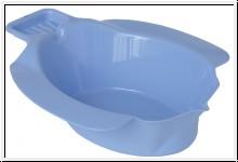 Bidetbecken, blau