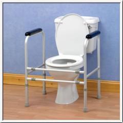 Toilettenstützgestell aus Aluminium, bis 190 Kg Körpergewicht