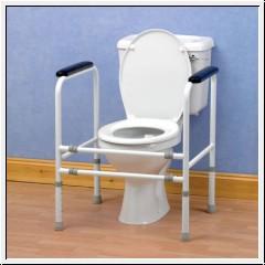 Toilettenstützgestell aus Stahl, bis 190 Kg Körpergewicht