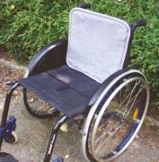 Polyfell Rückenauflage für Rollstühle
