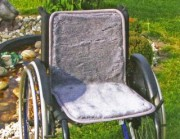 Polyfell Rollstuhlauflage, durchgehend