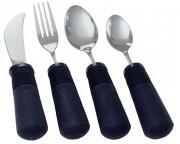 Good Grips Besteckset, 4 teilig, Messer mit Glattschliff