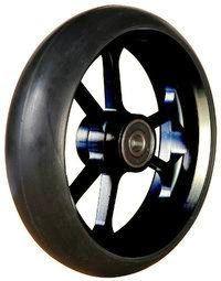 6 Zoll Rollstuhl Alu-Rad, 150 x 34 mm, schwarz