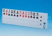 Spielkartenhalter, durchsichtig