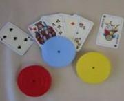 Spielkartenhalter, rund
