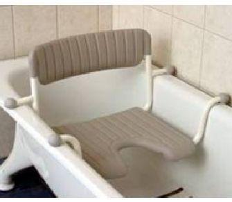 Badewannensitz mit Hygieneausschnitt und Rückenlehne