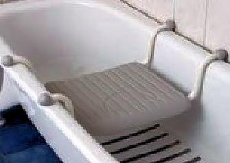 Badewannensitz ohne Rückenlehne