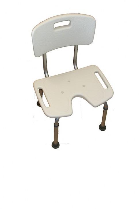 Duschhocker mit Rückenlehen