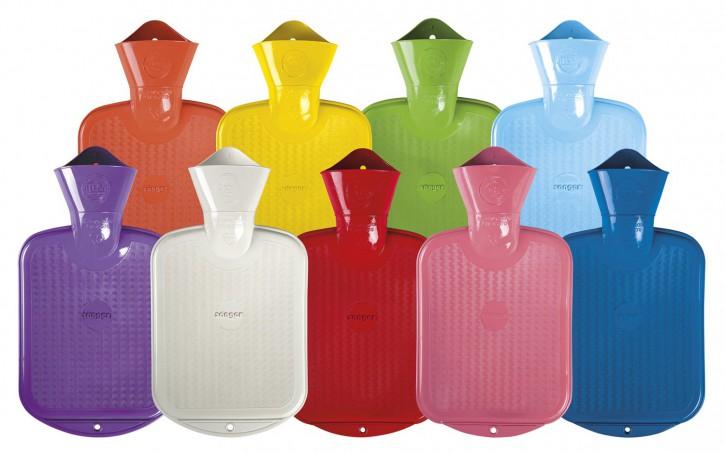 Gummi-Wärmflasche, 2,0 Liter, einseitig mit Lamellen