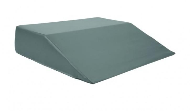 Keilsitzkissen, 43 x 45 x 10/0 cm, Bezug Decutex grau
