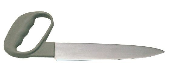 Messer mit Winkelgriff und Glattschliff, 20 cm