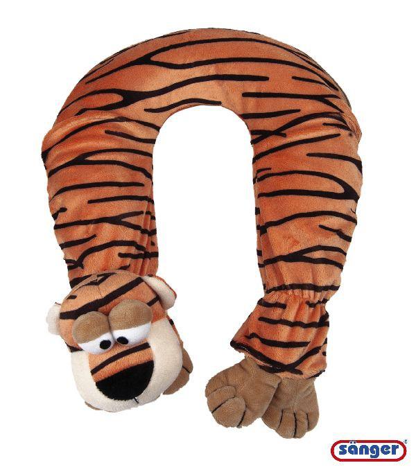 Nackenwärmflasche mit Flauschbezug, Tiger