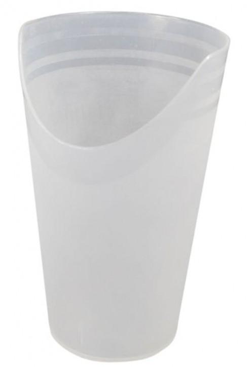 Becher mit Nasenausschnitt, transparent