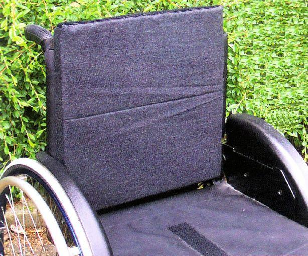 Rollstuhl Rückenkissen mit Nylonbezug, 3 cm
