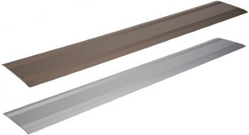 Türschiene, 125 x 1000 mm, silber eloxiert