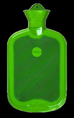 Gummi-Wärmflasche, 2,0 Liter, beidseitig mit Lamellen, apfelgrün