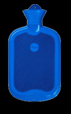 Gummi-Wärmflasche, 2,0 Liter, beidseitig mit Lamellen, blau