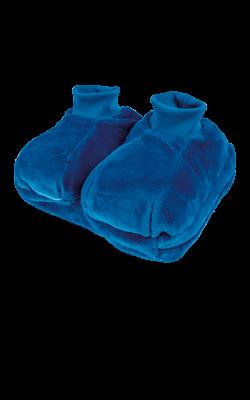 Fußwärmer mit einlegbarer Wärmflasche, blau