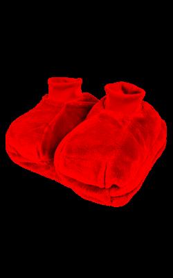 Fußwärmer mit einlegbarer Wärmflasche, rot