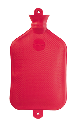 Gummi-Wärmflasche, 2,5 Liter, rot, Größe: 40 x 20 cm