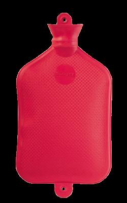 Gummi-Wärmflasche, 2,5 Liter, rot