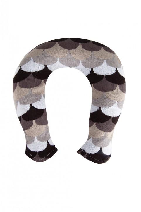 Nackenwärmflasche mit Strickbezug aus Baumwolle, Bogen-Design